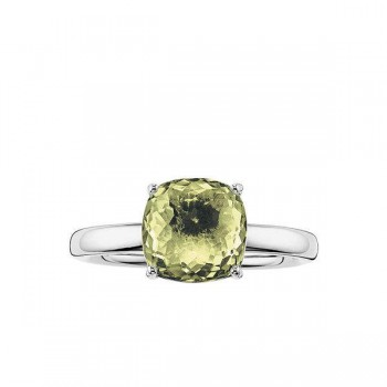 Thomas Sabo solitaire ring green Women Rings J_TR0005-752-33