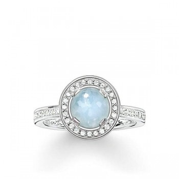 Thomas Sabo solitaire ring Light of Luna light-blue Women Rings TR1971-694-31