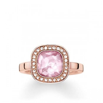 Thomas Sabo solitaire ring pink Cosmo Women Rings TR2029-633-9