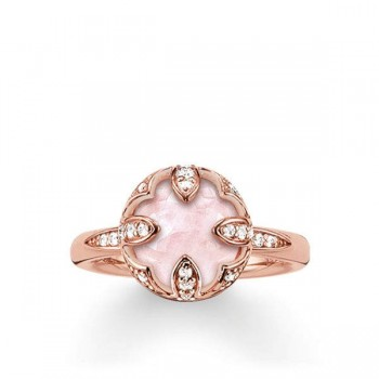 Thomas Sabo solitaire ring pink lotus Women Rings TR2027-537-9