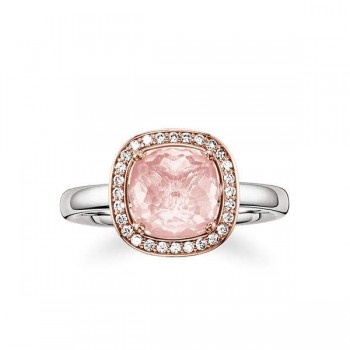Thomas Sabo solitaire ring pink Women Rings J_TR0002-756-9