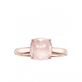 Thomas Sabo solitaire ring pink Women Rings J_TR0005-754-9
