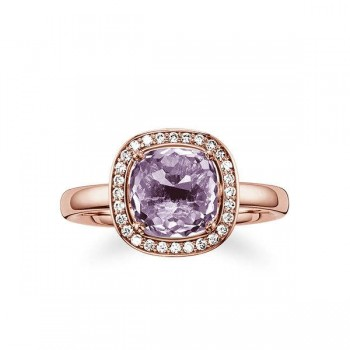 Thomas Sabo solitaire ring purple Women Rings J_TR0002-717-13