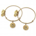 Alex And Ani Big and Little Dipper Set of Two Charm Bangles America Jewelry Sets,Jewelry Sets
