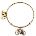 Alex And Ani Bike Charm Bangle | Pan-Mass Challenge Bracelets,Bracelets