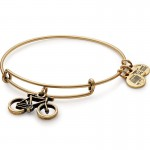 Alex And Ani Bike Charm Bangle | Pan-Mass Challenge Bracelets | thomassabobraceletuk.com