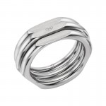 Links Of London | 20/20 Mens XL Ruthenium Plated Ring | Mens Rings Sale | thomassabobraceletuk.com