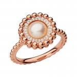 Links Of London | Effervescence 18kt Rose Gold, Diamond Pearl Ring | Women Rings Sale | thomassabobraceletuk.com