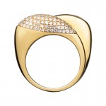 Links Of London Hope 18kt Yellow Gold & Diamond Double Ring