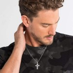 Thomas Sabo necklace black cross pavé Men Necklaces SET0079-051-11,Thomas Sabo Bracelet Uk